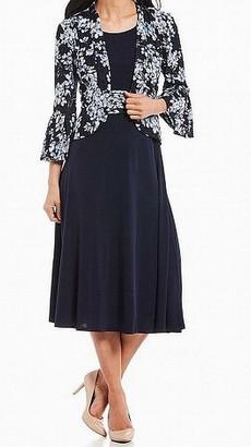 Jessica Howard JessicaHoward Women's Bell Sleeve Jacket Dress with Inset Waist