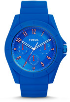 Fossil Poptastic Sport Multifunction Blue Silicone Watch
