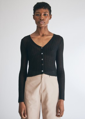 Which We Want Women's Ruby Knit Cardigan Sweater in Black, Size Medium