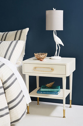 Odetta Side Table By Tracey Boyd in Beige Size ALL
