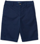 Ralph Lauren Cotton Twill Bermuda Shorts, Blue, Size 5-7