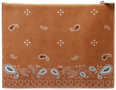 Meli-Melo Bandana Oversized Leather Clutch