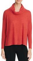 Eileen Fisher Cowl Neck High/Low Merino Sweater
