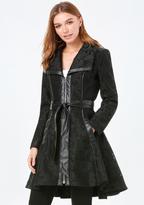 Bebe Jacquard Mesh Coat