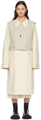 Ader Error Off-White Layered Coat