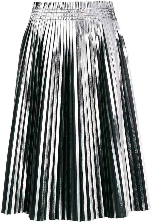 MM6 MAISON MARGIELA pleated metallic skirt