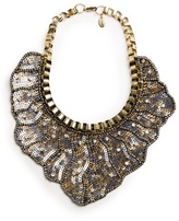 MANGO Outlet Sequined Bib Necklace