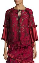Romance Was Born Queen of the Night Magnolia Lace Bell Sleeves Blouse