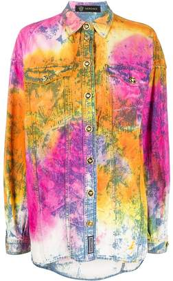 Versace Tie-Dye Denim Shirt