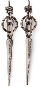 Paige Novick Gun Metal Plating Spike Drop Earrings