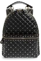 Valentino Rockstud Spike Quilted Lambskin Leather Backpack