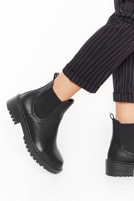 Nasty Gal Womens No Mean Feet Wide Fit Chelsea Boots - Black - 3