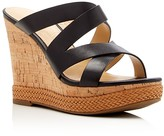 Ivanka Trump Harbie Cork Wedge Platform Sandals