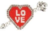 Shourouk Emojibling Heart Love brooch