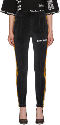 Palm Angels Black Chenille Slim Track Pants