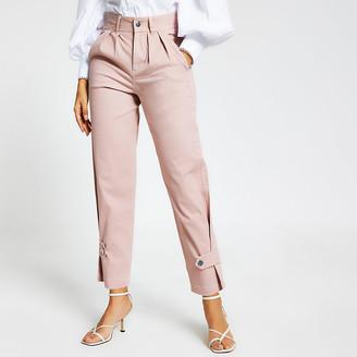 River Island Pink cuffed hem cargo trousers