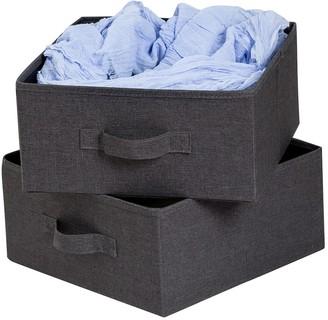 Honey-Can-Do Grey Canvas Storage Bins - Set of 2