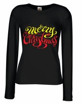lepni.me T shirts for women Long sleeve Vintage Merry Christmas Christmas vacation shirt