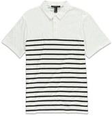 Forever 21 Stripe Print Polo