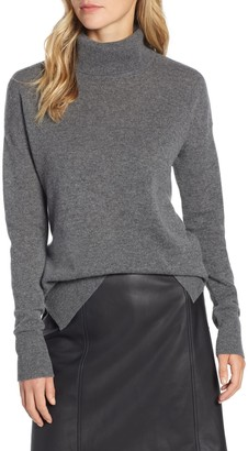 Halogen Cashmere Turtleneck Sweater (Regular & Petite)