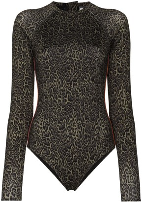 The Upside Maya leopard-print paddle suit