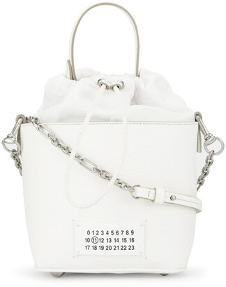 Maison Margiela number logo patch bucket bag