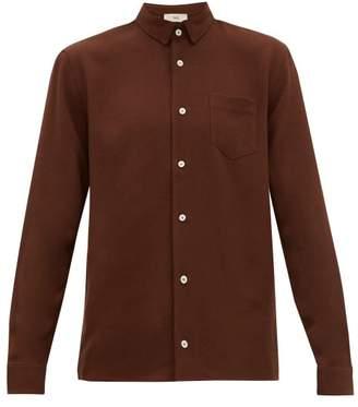 Séfr Hampus Crepe Shirt - Mens - Brown