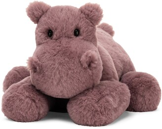 Jellycat Medium Huggady Hippo Stuffed Animal