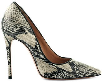 Cosmo Paris Snake Stiletto Leather Heels in Snake Print