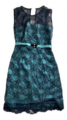 Elisabetta Franchi Green Lace Dresses