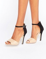 Paper Dolls Color Block Barely There Sandal