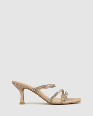 betts Women's Pink Heeled Sandals - Lexi 2 Slip On Sandals - Size One Size, 6 at The Iconic
