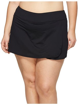 TYR Plus Size Skort (Black) Women's Swimwear