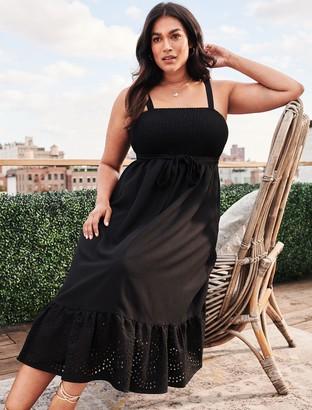 Forever New Marianne Curve Shirred Midi Dress - Black - 16