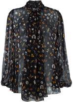 Alexander McQueen 'Obsession' print blouse - women - Silk - 42
