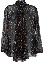 Alexander McQueen 'Obsession' print blouse