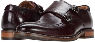 Stacy Adams Farwell Wing Tip Double Monk Strap (Black) Men's Shoes