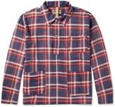 Nigel Cabourn - Half-placket Checked Brushed Cotton-twill Overshirt