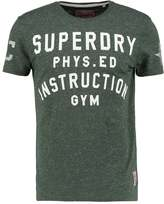 Superdry Instruction Print Tshirt Black Forest Chalk Nep