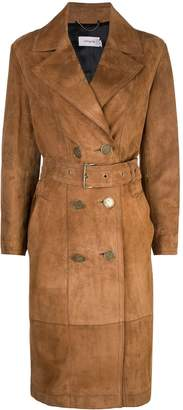 Coach double-breasted trench coat