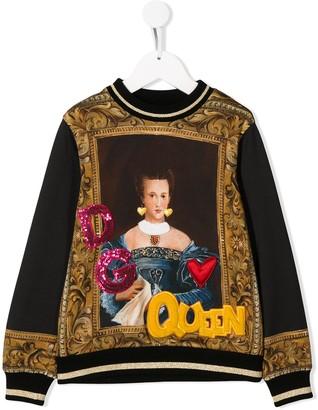 Dolce & Gabbana Baroque Queen Print Sweatshirt