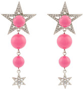 Miu Miu crystal embellished drop earrings