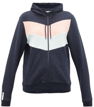 LNDR Chill Pop Cotton-jersey Hooded Sweatshirt - Womens - Navy White