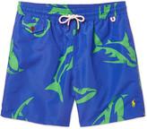 Polo Ralph Lauren Traveler Mid-Length Shark-Print Swim Shorts