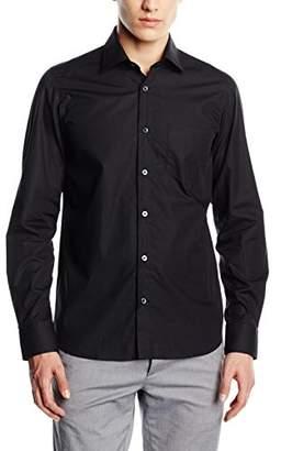 Signum Men's 999011107 Modern Fit Long Sleeve Casual Shirt, (Optical White), XX-Large