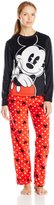 Disney Women's Ladies Minky Pajama Set Mickey