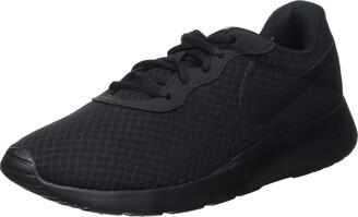 Nike Women's Tanjun Training Shoes - Black (Black/White) - 3.5 UK