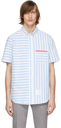 Thom Browne Blue and White University Stripe Shirt