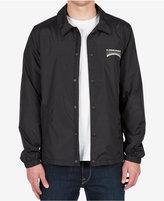 Volcom Men's Fairmont Graphic-Print Logo Coaches Jacket