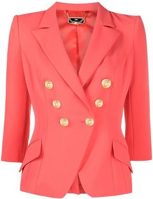 Elisabetta Franchi Double-Breasted Tailored Blazer